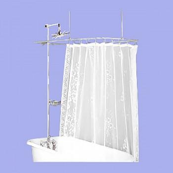 <PRE>Shower Surround Chrome Rect Teardrop Faucet 3Handles Wall Mnt</PRE>