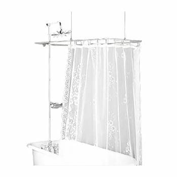 Shower - Chrome Double Levers Deck Mount Rectangular Surround by the Renovator's Supply