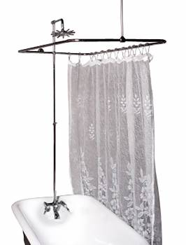 Shower - Chrome Teardrop Faucet Tub Wall Mount Rectangular Surround by the Renovator's Supply