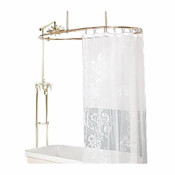 Shower Surround Brass PVD Oval Double Lever Faucet 16152grid