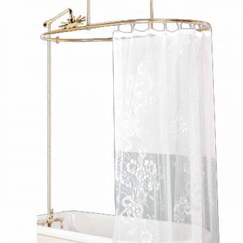 Shower Surround Brass Teardrop Faucet 3 Handles Wall Mount 16160grid