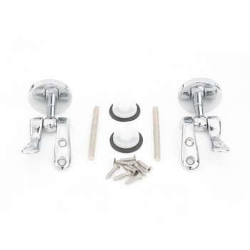 <PRE>Solid Brass Pair Toilet Seat Hinge Replacement Chrome </PRE>zoom3