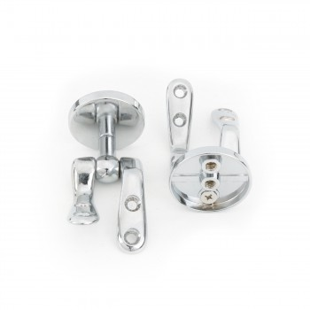 <PRE>Solid Brass Pair Toilet Seat Hinge Replacement Chrome </PRE>zoom4