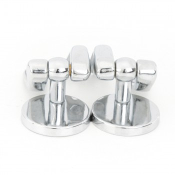 <PRE>Solid Brass Pair Toilet Seat Hinge Replacement Chrome </PRE>zoom7