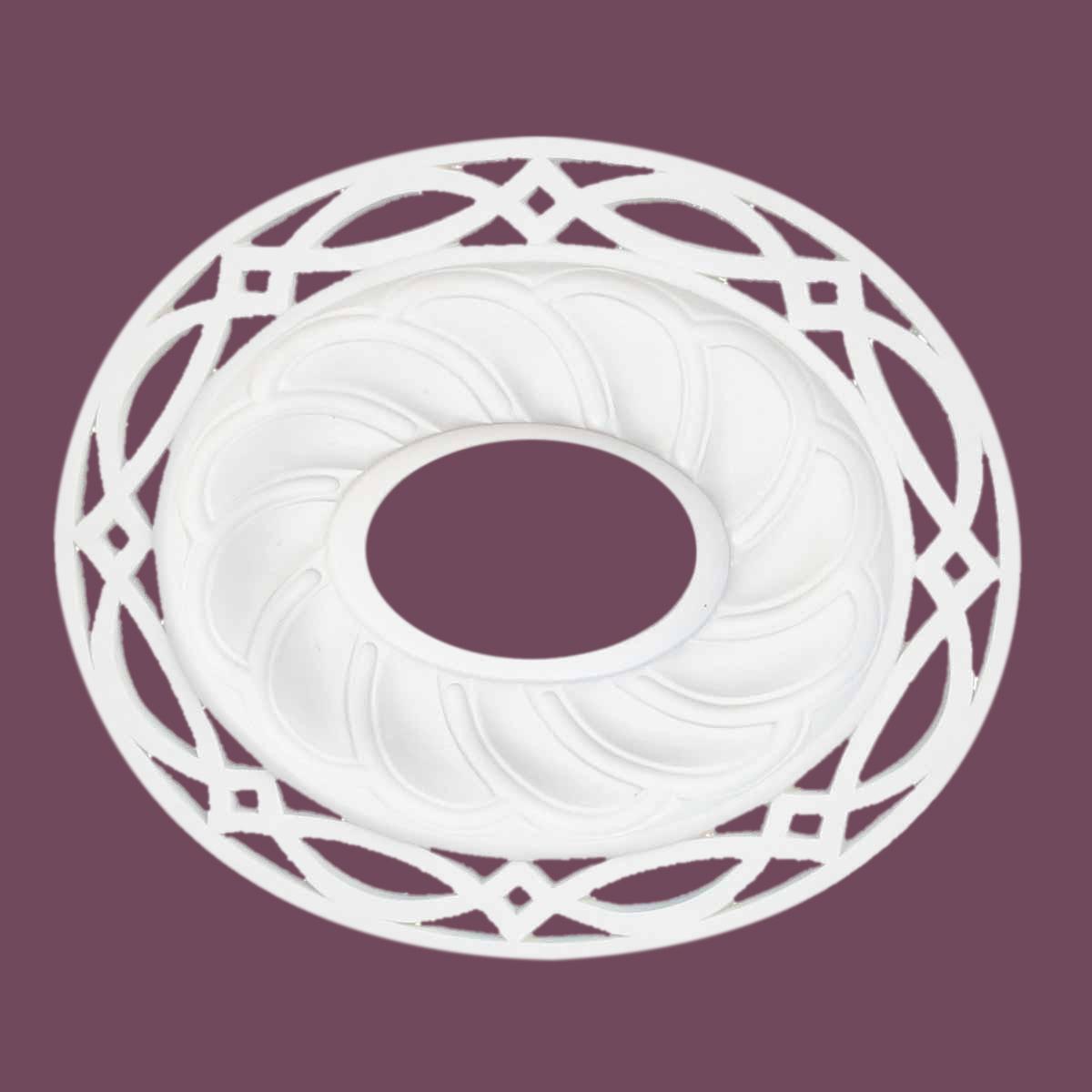 Ceiling Medallion White Urethane 17 11/16