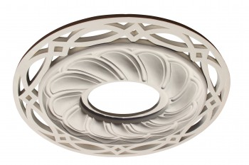 Ceiling Medallion White Urethane 17 1116 X 20 1316 Spotlight Ceiling Medallion White Recessed Light Trim Decorative Recessed Lighting Trim