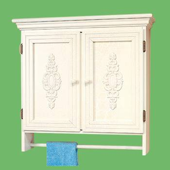 <PRE>Solid Wood Medicine Cabinet Combo 2 Door White Crackle Birch </PRE>