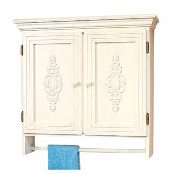 Combo Medicine Cabinet White Crackle-Solid Birch 28