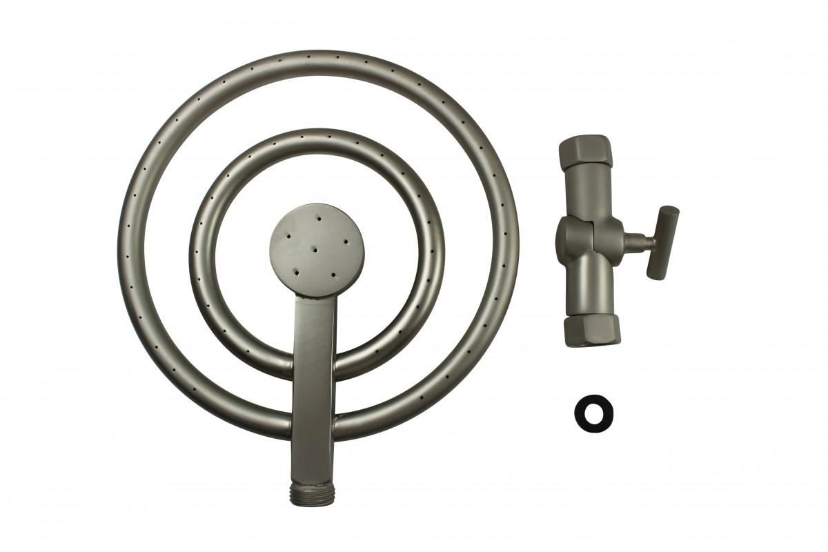 Solid Brass Shower Head Satin Nickel 60 Fine Mist Jets Shower Head Shower Heads Bath Shower Head