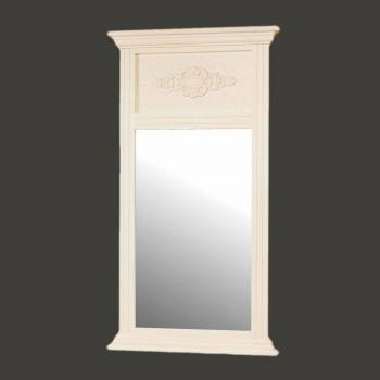 <PRE>Mirror White Crackle Wood Hall/Entry </PRE>zoom2