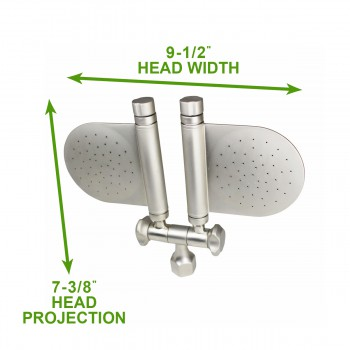 spec-<PRE>Shower Head Nickel 98 Fine Mist Jets Wall Mount </PRE>