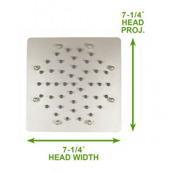 spec-<PRE>Shower Heads Nickel 51 Fine Mist Jets Wall Mount </PRE>
