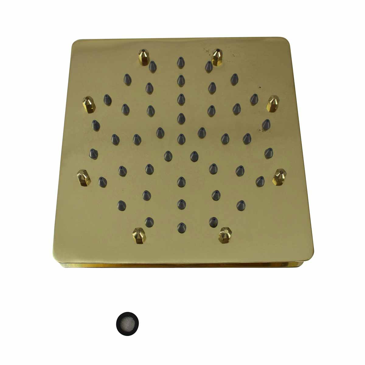 Shower Head Gold PVD 51 Fine Mist Jets Single Hole Shower Head Shower Heads Bath Shower Head
