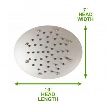spec-<PRE>Shower Heads Nickel 51 Fine Mist Jets Showerhead Only </PRE>