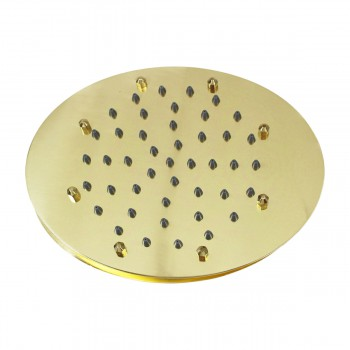 Shower Heads Gold PVD 51 Fine Mist Jets Wall Mount Shower Head Shower Heads Bath Shower Head