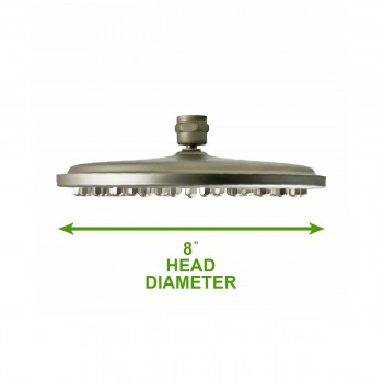 spec-<PRE>Shower Heads Nickel 75 Fine Mist Jets Wall Mount </PRE>