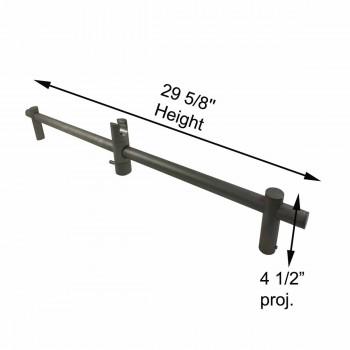 spec-<PRE>Bathroom Handheld Shower Slide Bar Satin Nickel 30&quot; L </PRE>