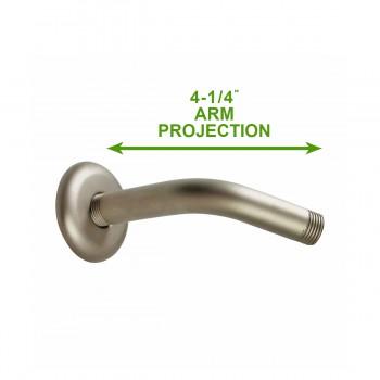 spec-<PRE>Shower Parts Satin Nickel Brass Shower Arm Part Only </PRE>