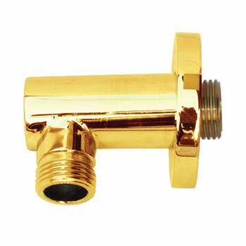 Shower Part Gold PVD Brass Shower Water Connector Part Only 16272grid