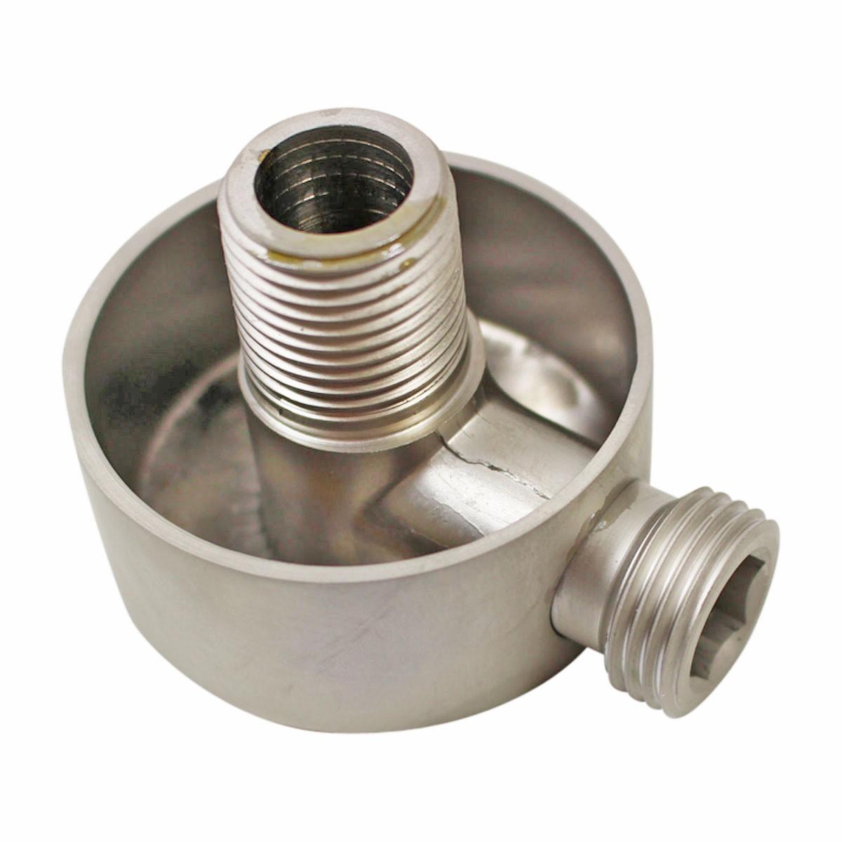 Shower Part Satin Nickel Brass Water Connector Part Only Brass Shower Parts Water Connector Shower Connector