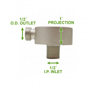 spec-<PRE>Shower Part Satin Nickel Brass Water Connector Part Only </PRE>