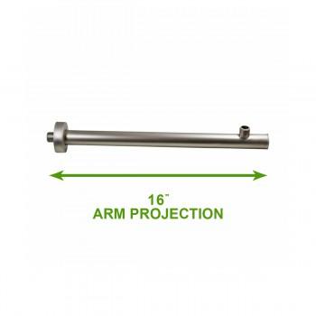 spec-<PRE>Shower Part Nickel Solid Brass Shower Arm Part Only </PRE>