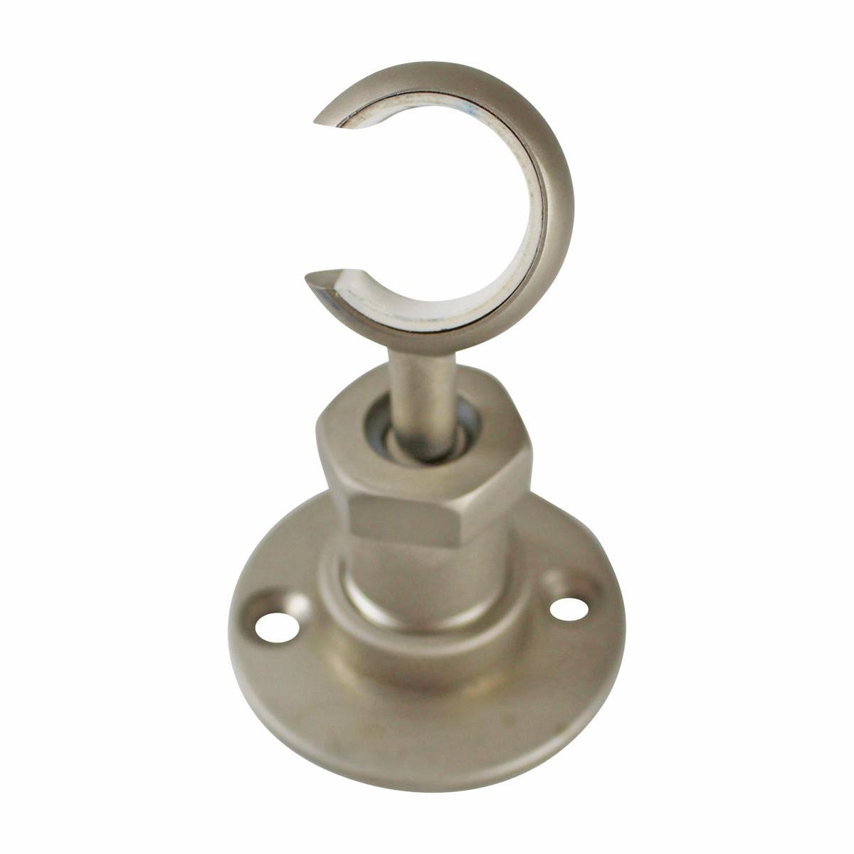 TwistIn Bracket Satin Nickel Shower Part Replacement Shower Wall Bracket Shower Head Bracket Holder Shower Head Bracket Chrome