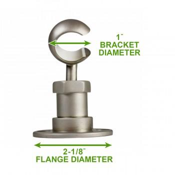 spec-<PRE>Twist-In Bracket Satin Nickel Shower Part Replacement </PRE>