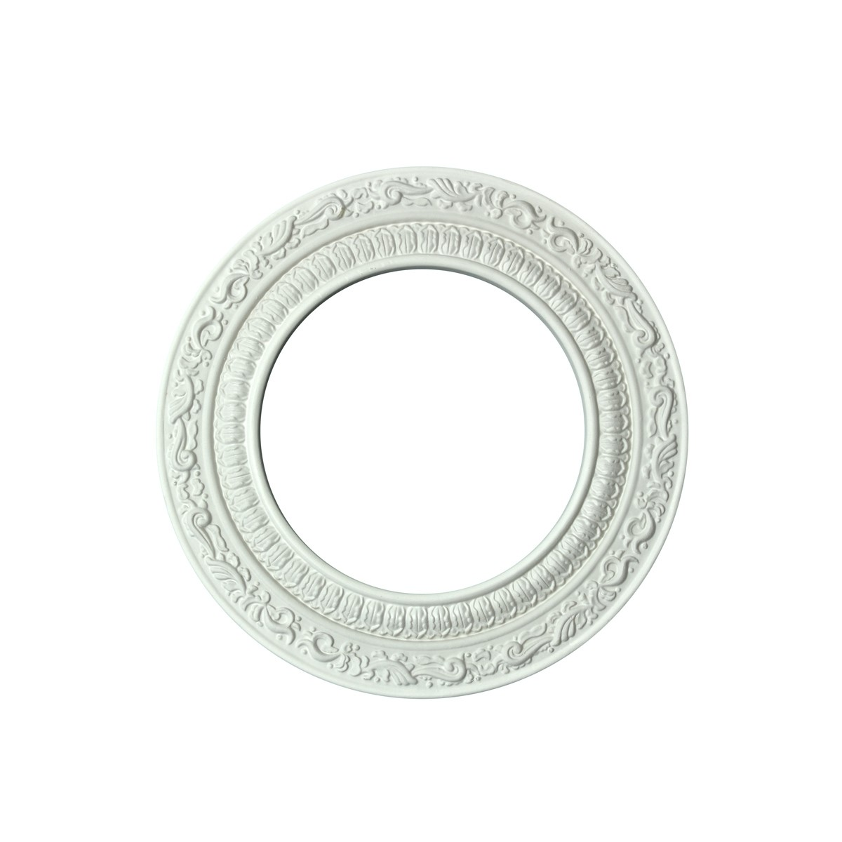 Spot Light Trim White Urethane Recess 6 ID X 10 OD White Recessed Light Trim Decorative Recessed Lighting Trim Spotlight Ceiling Medallion