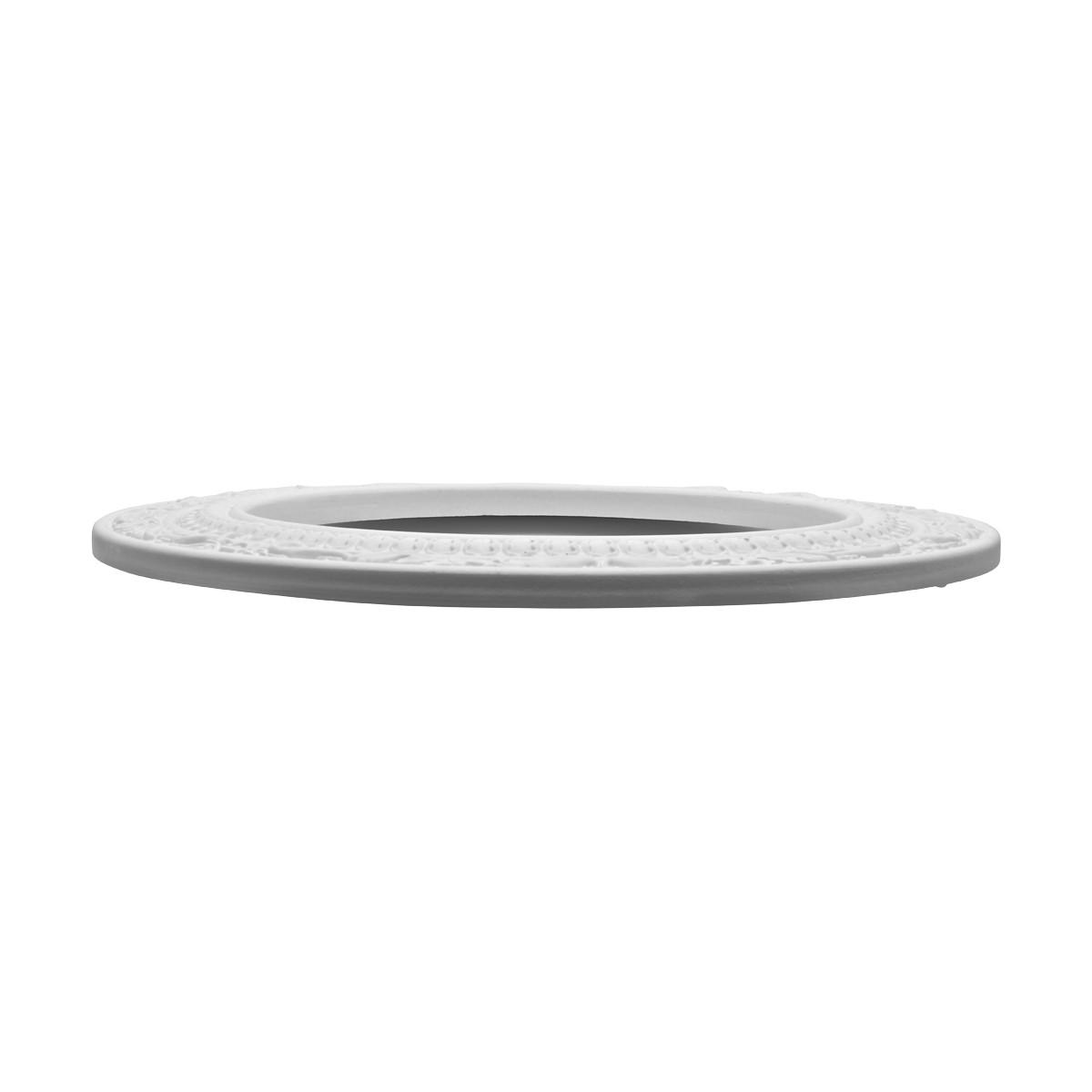 Spot Light Ring White Trim 8 ID x 12 OD Mini Medallion White Recessed Light Trim Decorative Recessed Lighting Trim Spotlight Ceiling Medallion