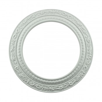 "<PRE>Spot Light Ring White Trim 8inch ID x 12"" OD Mini Medallion </PRE>zoom3"