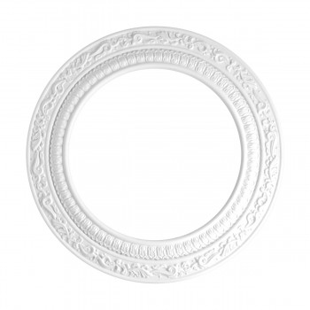 "<PRE>Spot Light Ring White Trim 8inch ID x 12"" OD Mini Medallion </PRE>zoom4"