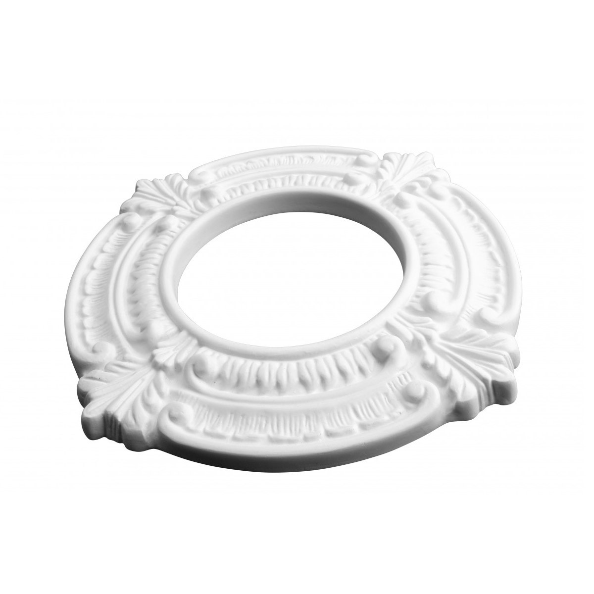 Recessed White Spotlight Ring 4 ID x 8 OD Factory Primed Lightweight Urethane White Recessed Light Trim Decorative Recessed Lighting Trim Spotlight Ceiling Medallion