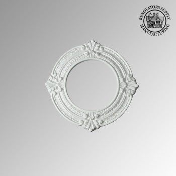 Recessed Urethane Ceiling Medallion Trim White 6 inches ID x 10 inches OD White Recessed Light Trim Decorative Recessed Lighting Trim Spotlight Ceiling Medallion