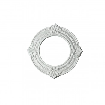 Recessed Urethane Ceiling Medallion Trim White 6 inches ID x 10 inches OD16483grid