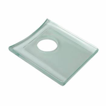Clear Square Faucet Plate Fits Square Base Faucet Only