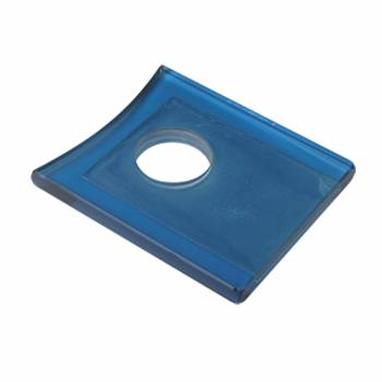 Blue Square Faucet Plate Fits Square Base Faucet Only