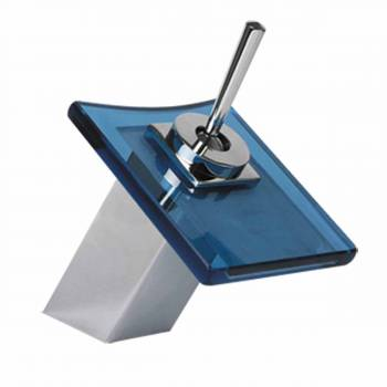 8 11/16 inch Waterfall Faucet Square Blue Plate