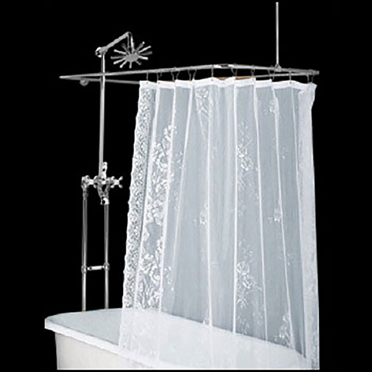 Clawfoot Tub Freestanding Shower Set Rectangular Enclosure