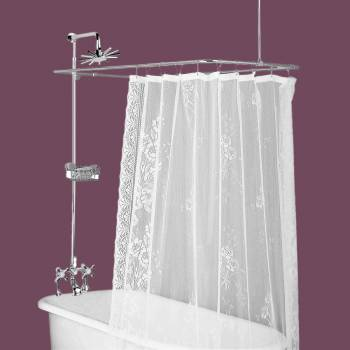 <PRE>Clawfoot Tub Deck Mount Shower Set Rectangular Enclosure </PRE>zoom2