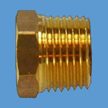 "<PRE>Reducing Bushing 1/2inch Male 3/8"" Female Solid Brass </PRE>zoom2"