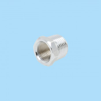 Chrome Reducing Bushing 12 Male 38 Female Solid Brass Reducing Bushing Bushing Reducer Male Threaded Bushing
