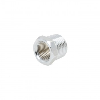 Chrome Reducing Bushing 12 Male 38 Female Solid Brass