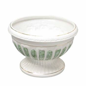 Planters White/Green Ceramic Vase 13