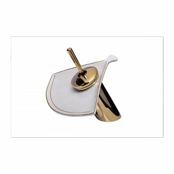 Waterfall Faucet Cast Brass Gold PVD Short Ceramic 7
