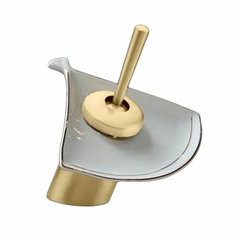 <PRE>Waterfall Faucet Cast Anitque Brass Short Ceramic 7inch H </PRE>zoom1