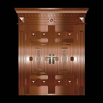 Copper Doors Copper On Steel Security Double Door16643grid