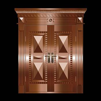 Copper Doors Copper On Steel Security Double Door16644grid