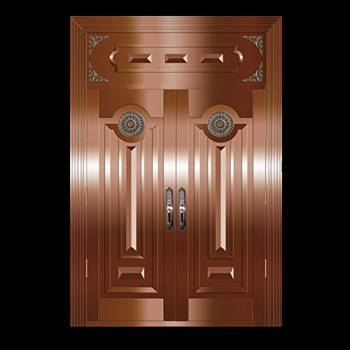 Copper Doors Copper On Steel Security Double Door16645grid