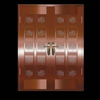 Copper Doors Copper On Steel Security Double Door16646grid